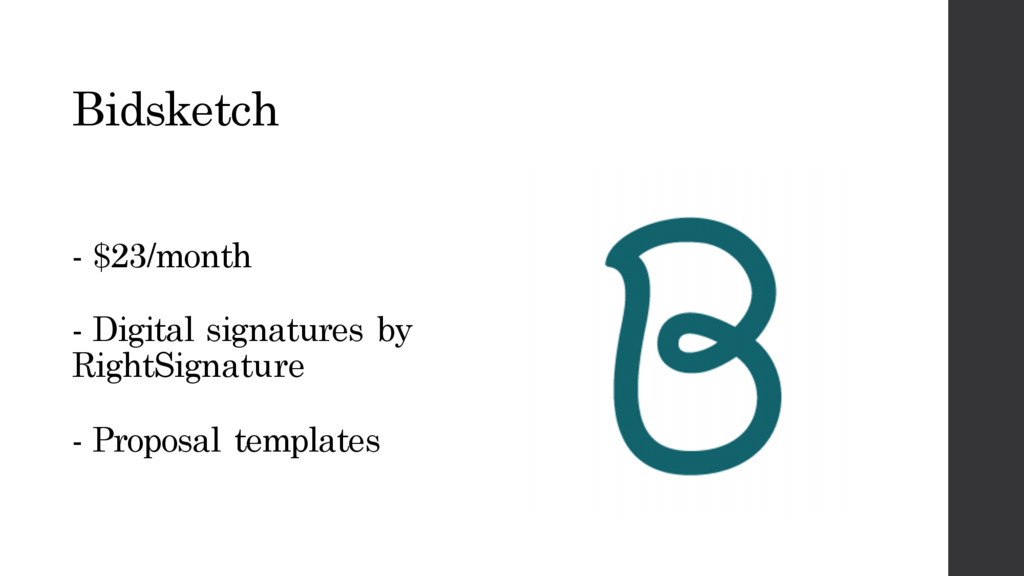 Bidsketch - $23/month - Digital signatures by R...