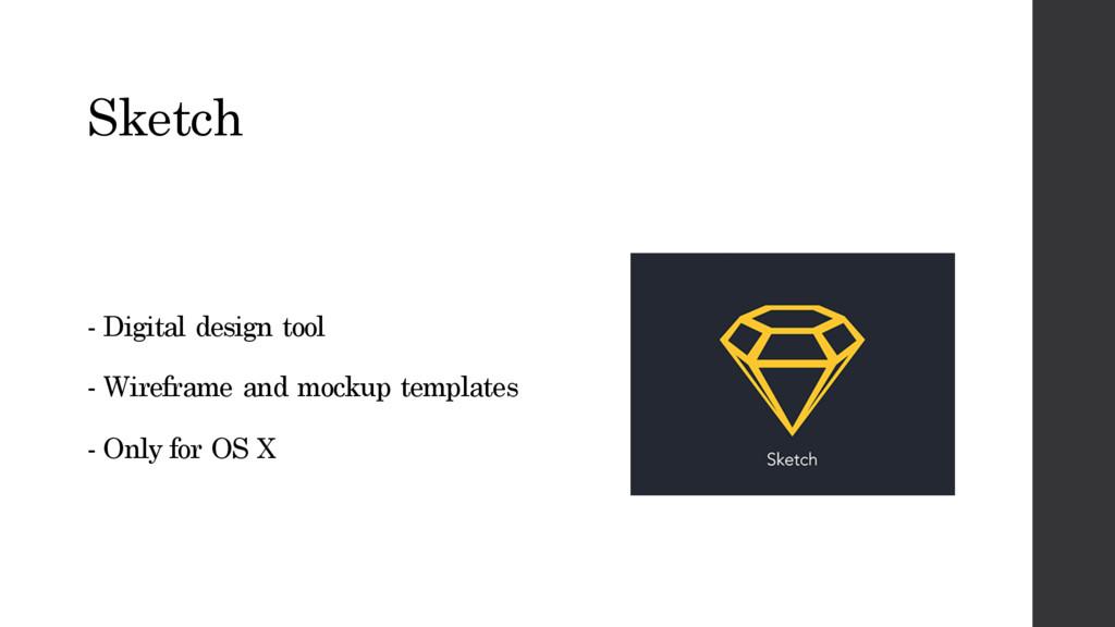 Sketch - Digital design tool - Wireframe and mo...