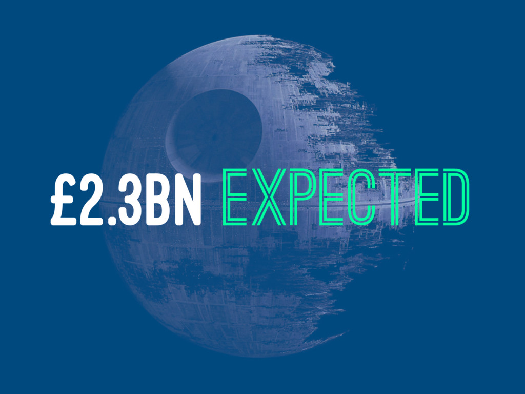 £2.3BN EXPECTED