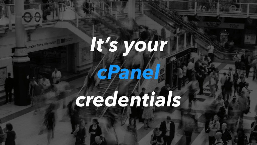 It's your cPanel credentials