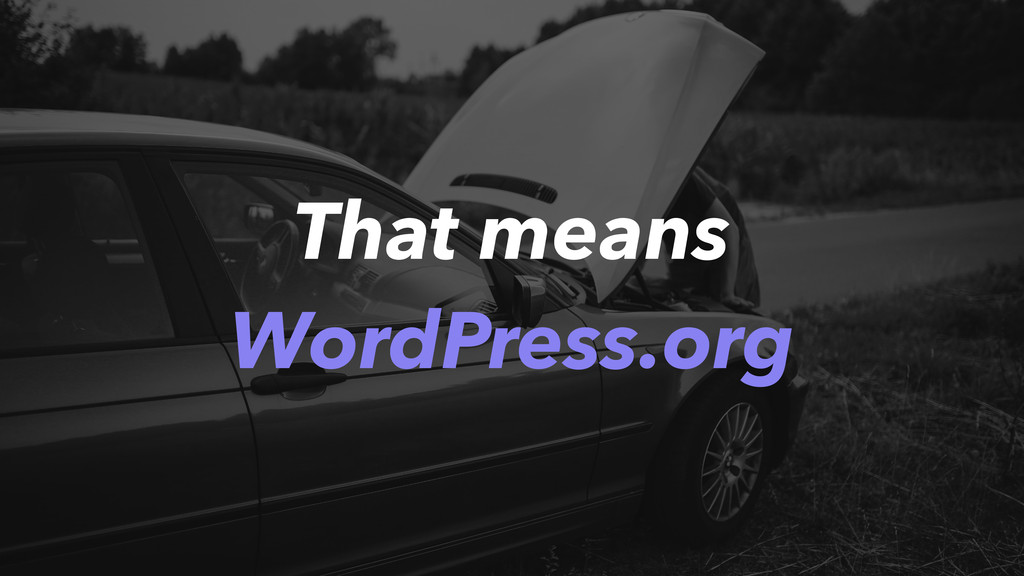 That means WordPress.org