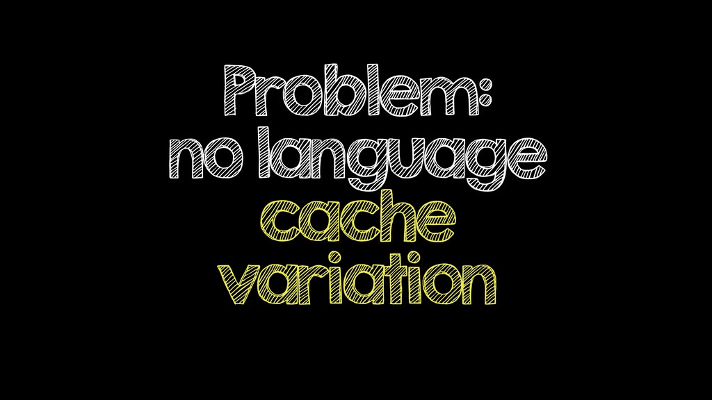 Problem: no language cache variation