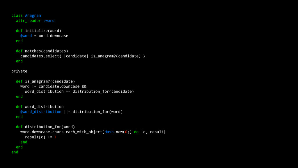 class Anagram attr_reader :word def initialize(...
