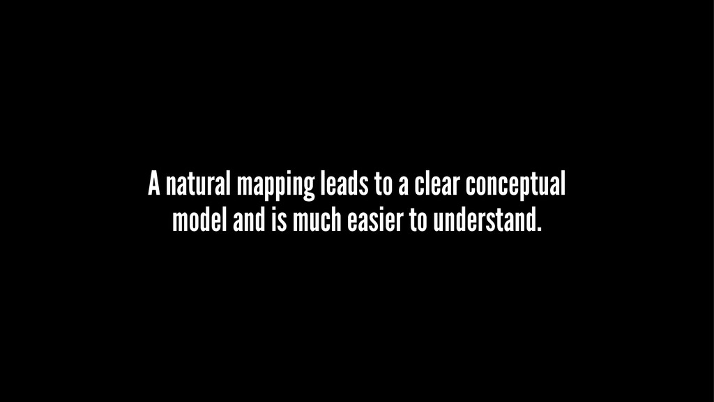 A natural mapping leads to a clear conceptual m...