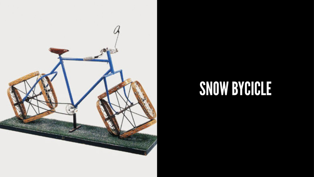 SNOW BYCICLE