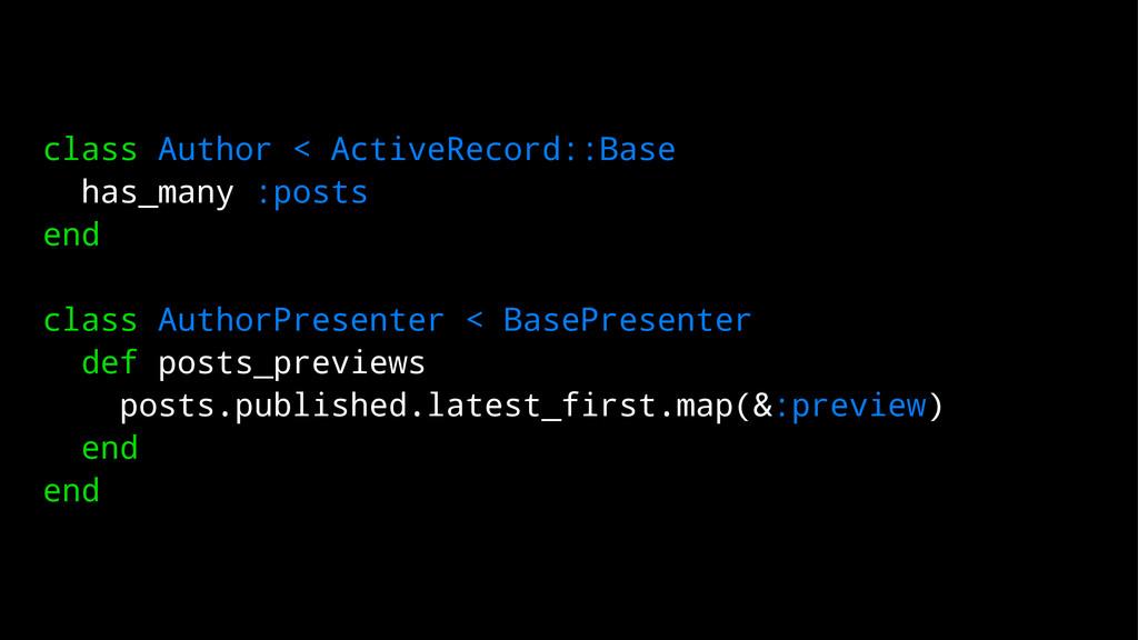 class Author < ActiveRecord::Base has_many :pos...