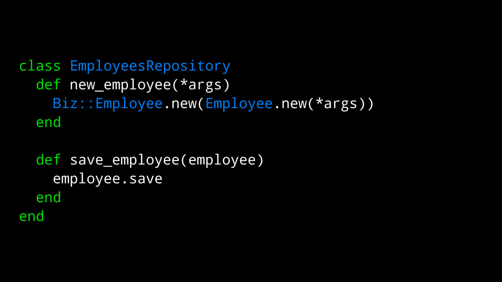 class EmployeesRepository def new_employee(*arg...