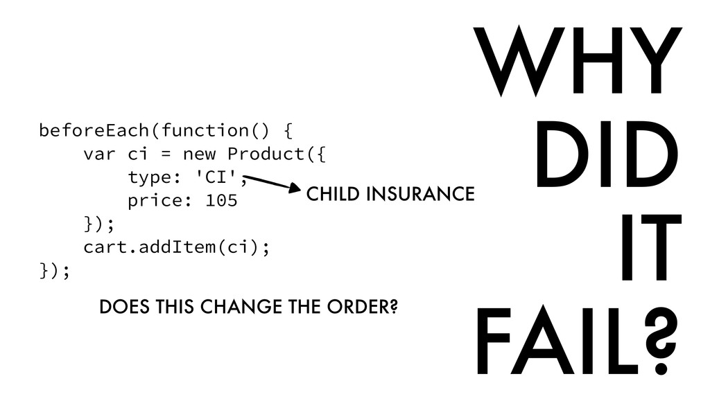 beforeEach(function() { var ci = new Product({ ...