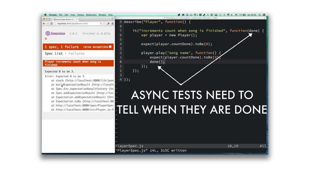 ASYNC TESTS NEED TO TELL WHEN THEY ARE DONE