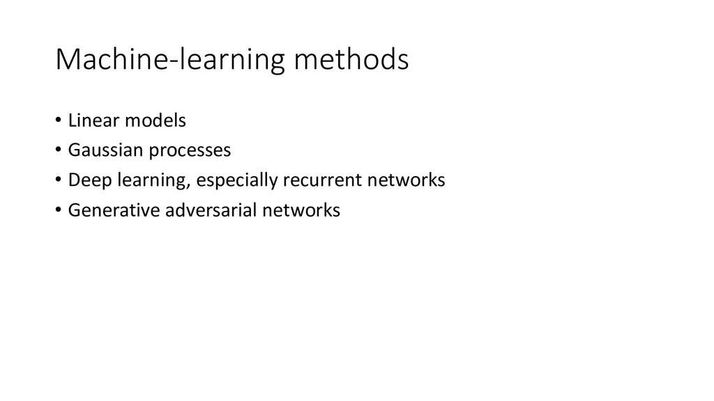 Machine-learning methods • Linear models • Gaus...