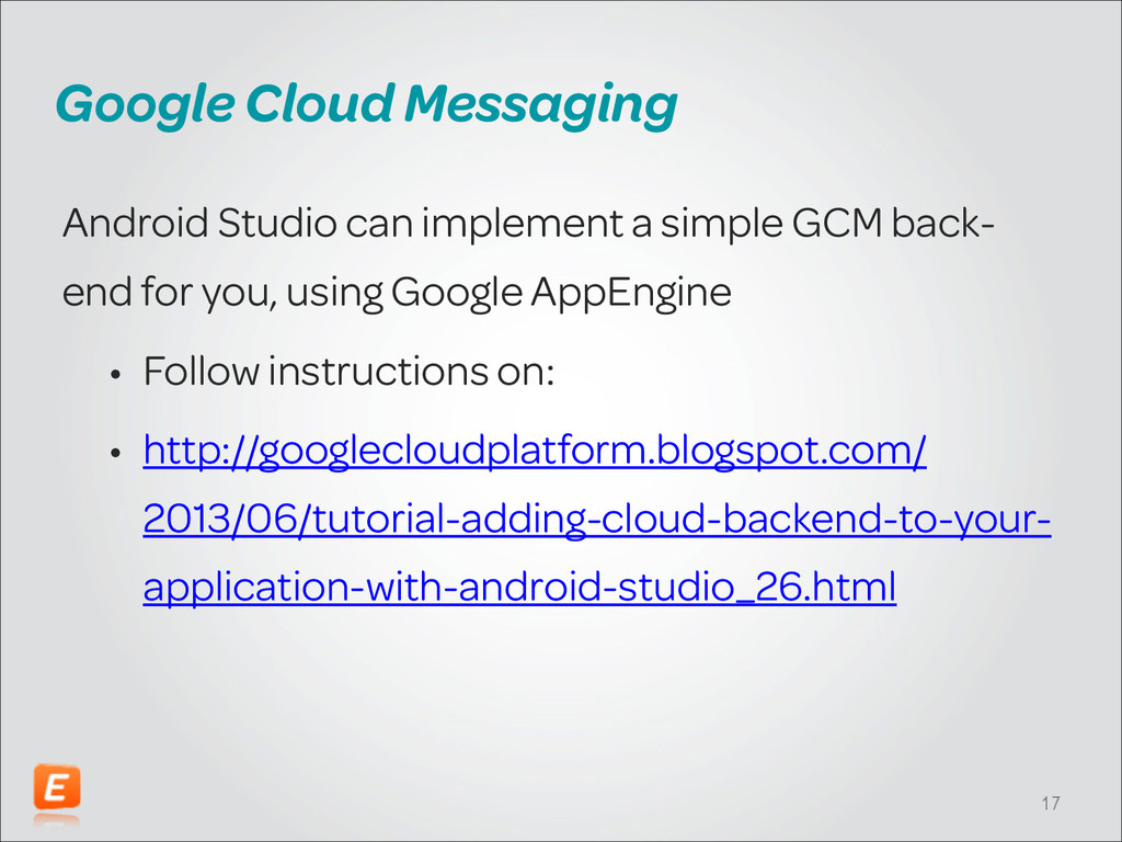 Google Cloud Messaging Android Studio can imple...