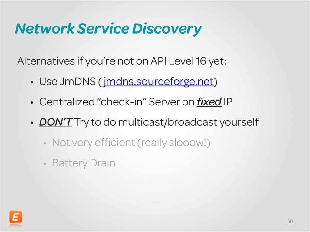 Network Service Discovery Alternatives if you'r...