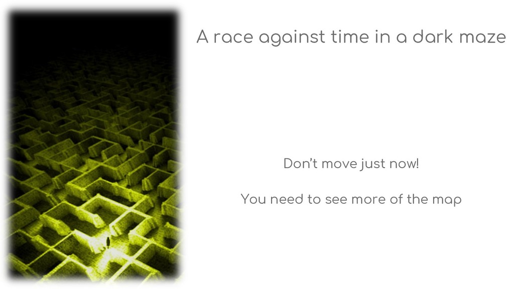A race against time in a dark maze Don't move j...