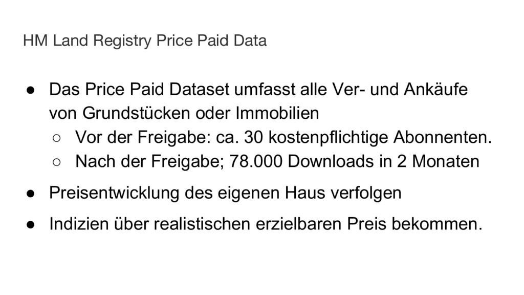 HM Land Registry Price Paid Data ● Das Price Pa...