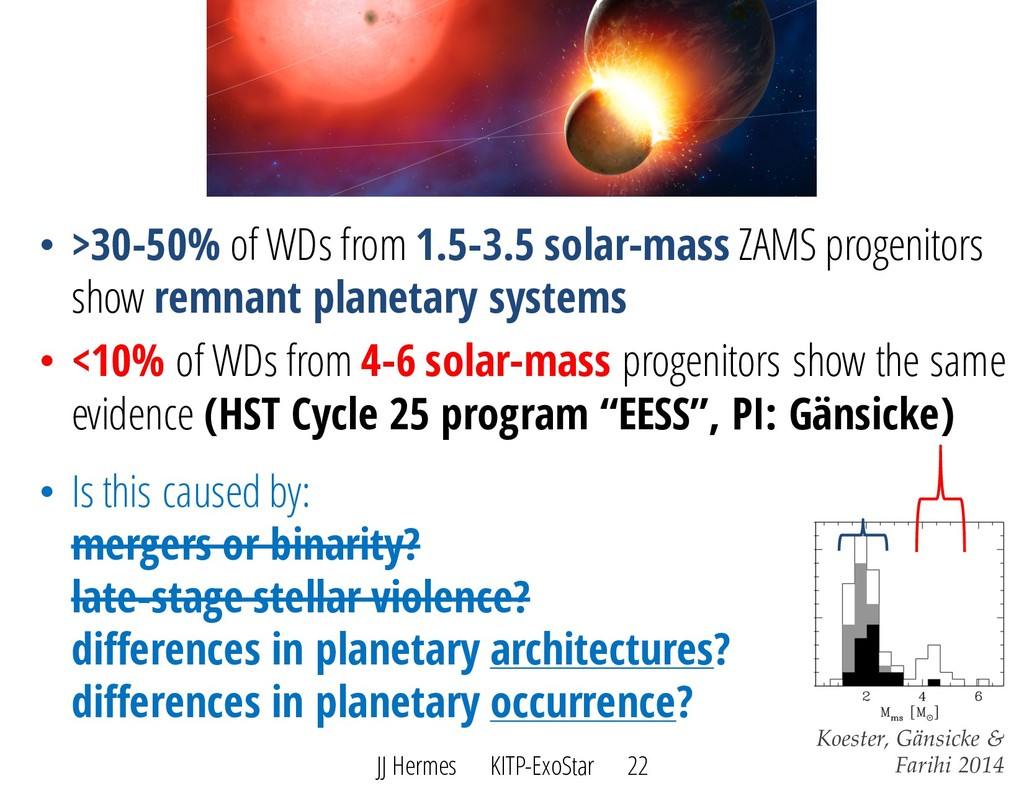 • >30-50% of WDs from 1.5-3.5 solar-mass ZAMS p...