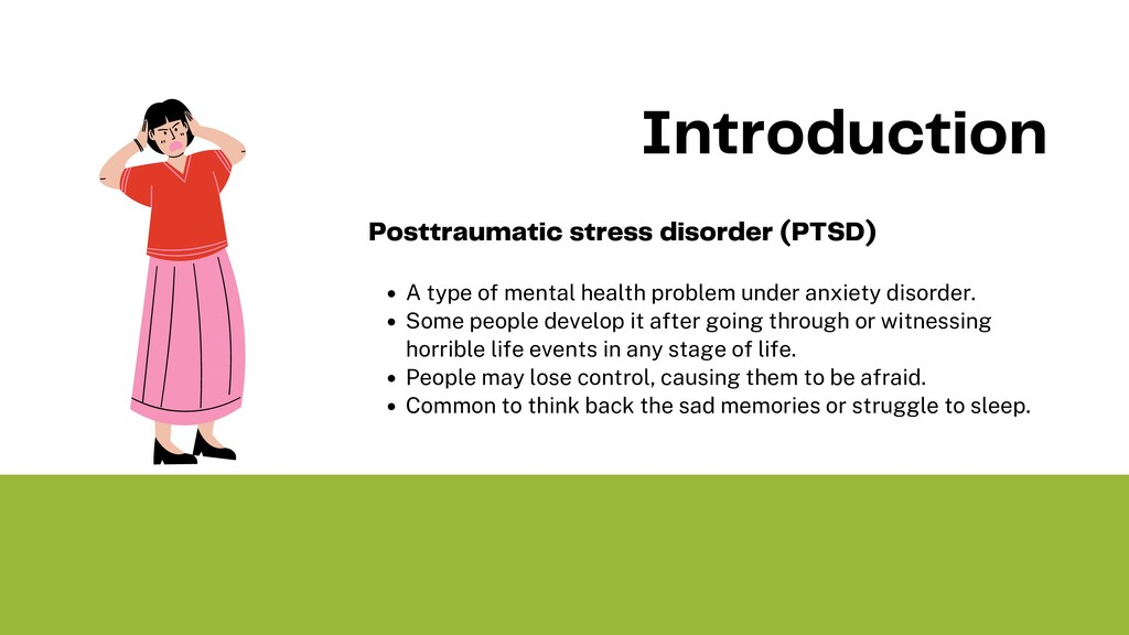 A type of mental health problem under anxiety d...