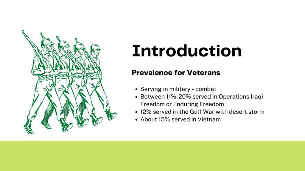 Serving in military - combat Between 11%-20% se...