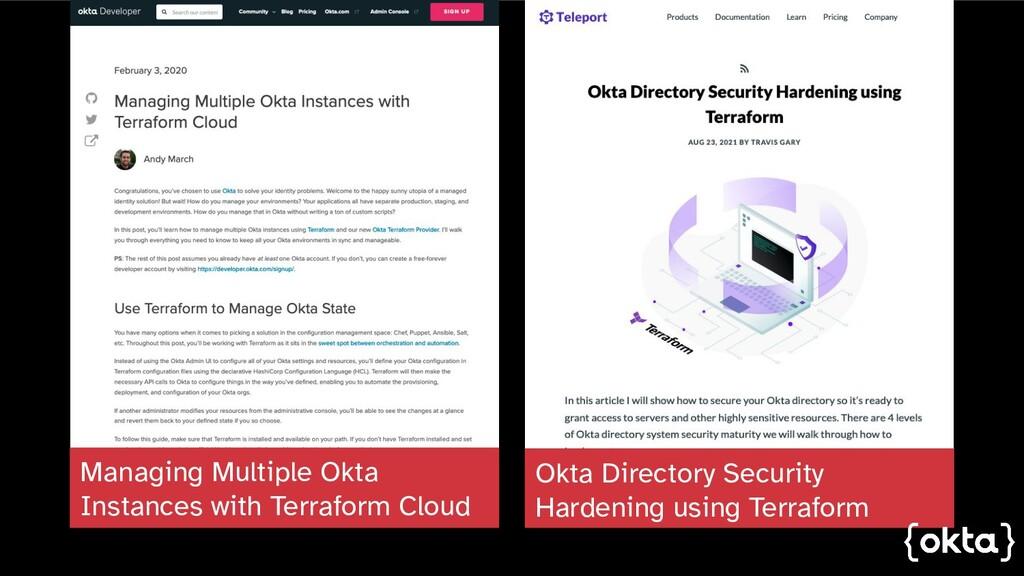 Okta Directory Security Hardening using Terrafo...