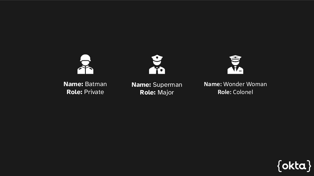 Name: Batman Rank: Private Name: Superman Rank:...