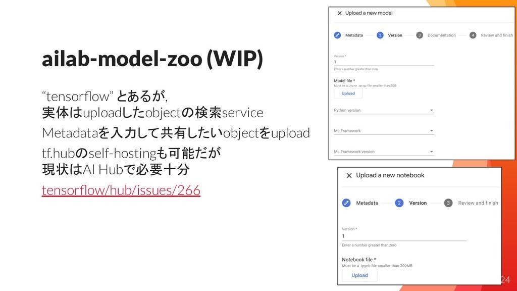 "ailab-model-zoo (WIP) ""tensorflow"" とあるが, 実体はuplo..."