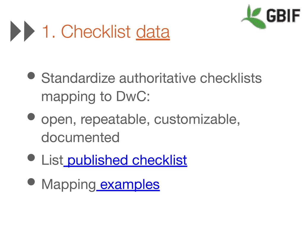 • Standardize authoritative checklists mapping ...