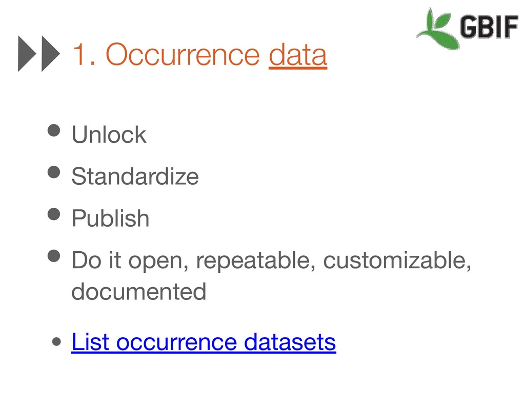 • Unlock • Standardize • Publish • Do it open, ...