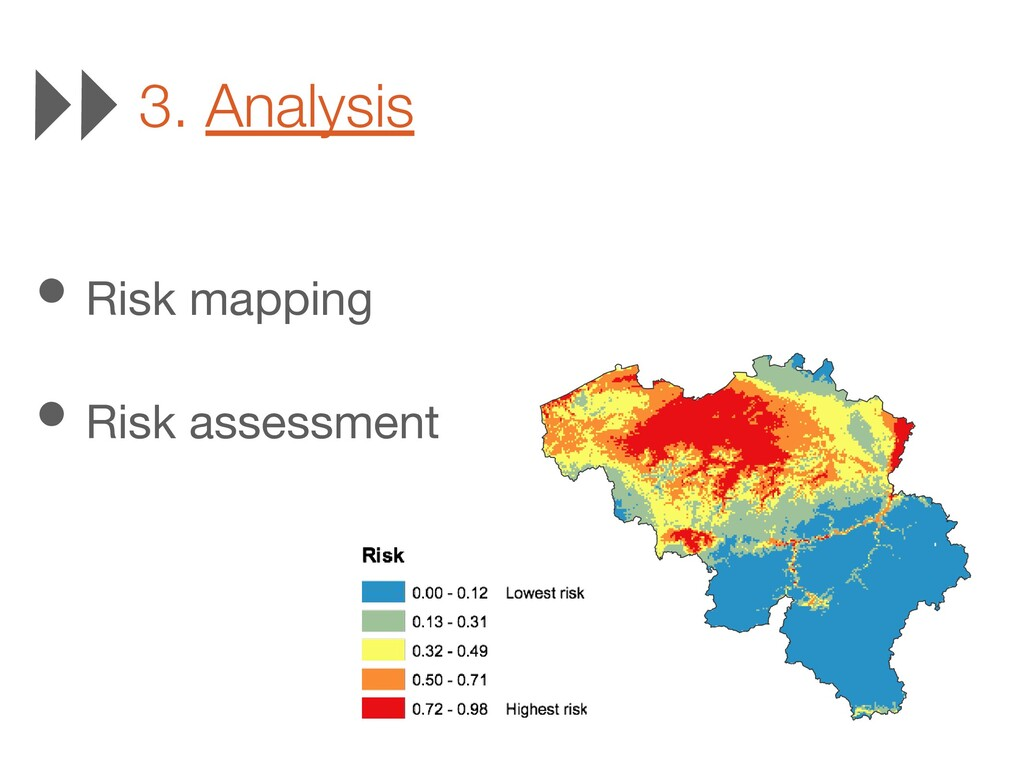 3. Analysis • Risk mapping • Risk assessment