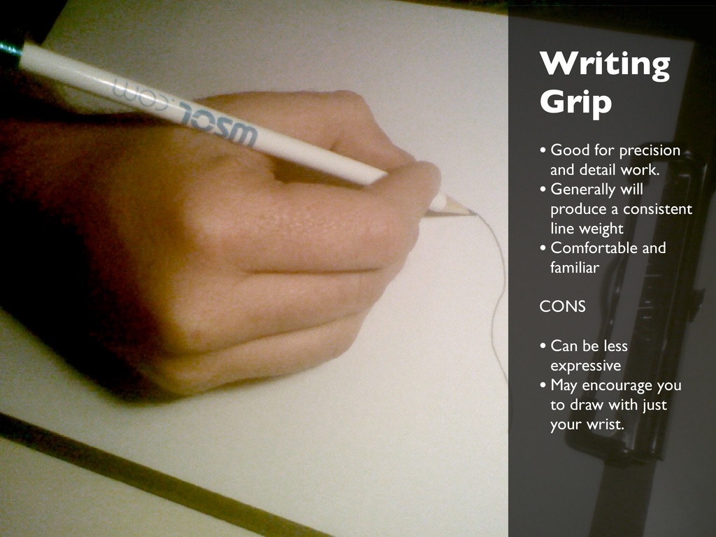Writing Grip • Good for precision and detail wo...