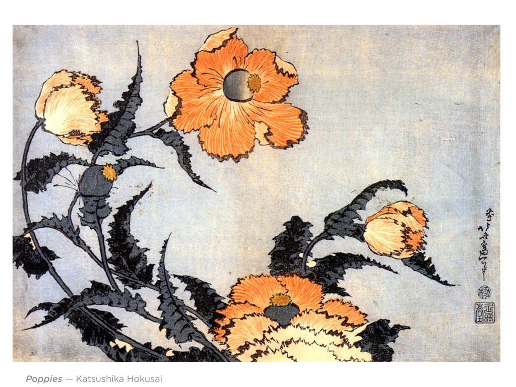 Poppies — Katsushika Hokusai
