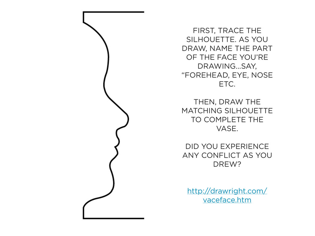 FIRST, TRACE THE SILHOUETTE. AS YOU DRAW, NAME ...
