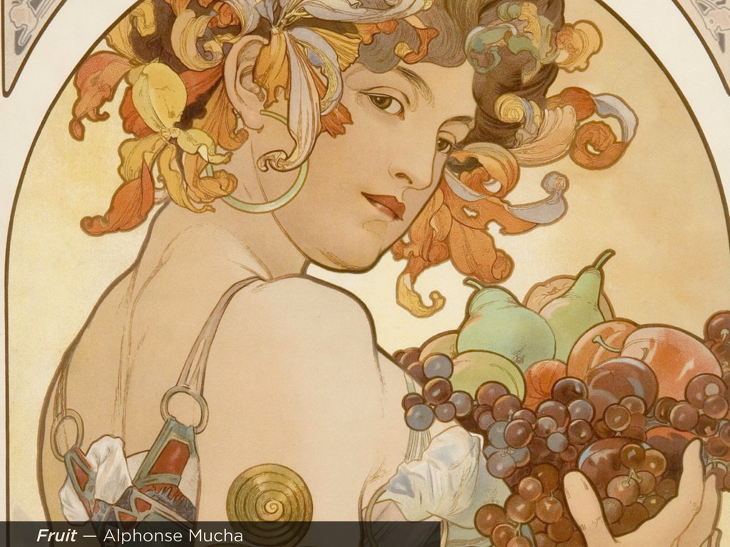 Fruit — Alphonse Mucha