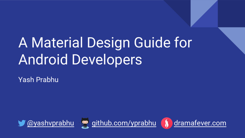 A Material Design Guide for Android Developers ...