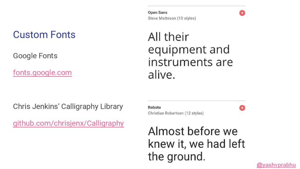 Custom Fonts Google Fonts fonts.google.com Chri...