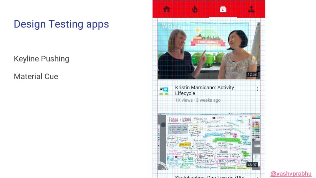 Design Testing apps Keyline Pushing Material Cu...