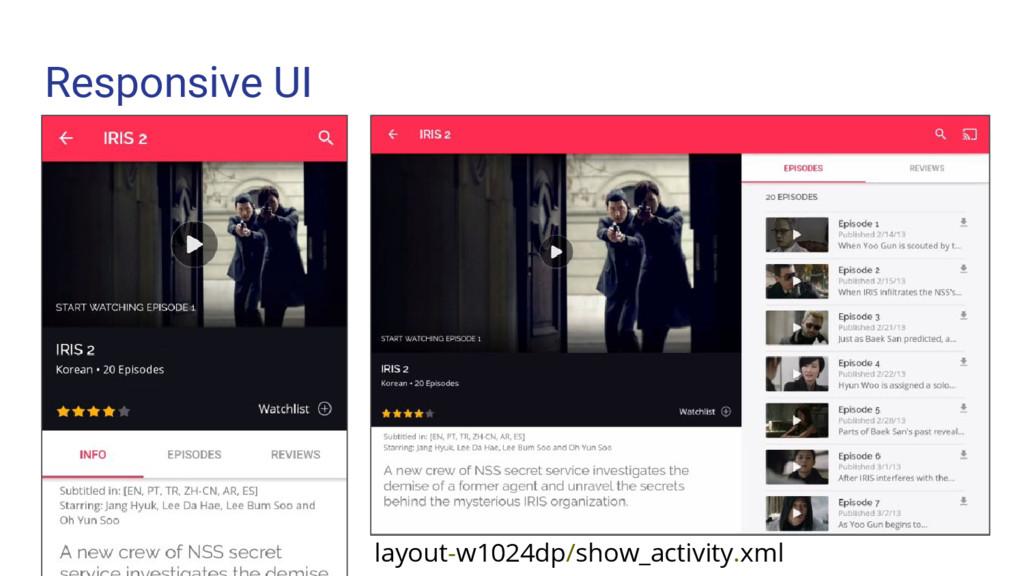 Responsive UI layout-w1024dp/show_activity.xml