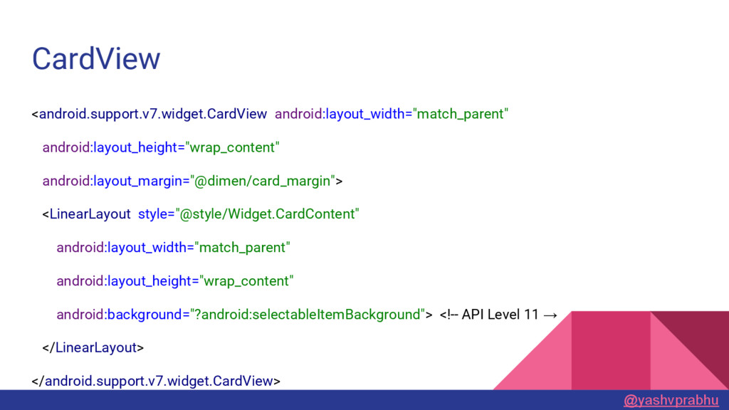CardView <android.support.v7.widget.CardView an...