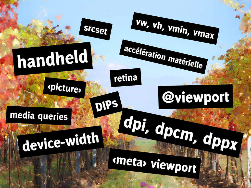 <picture> media queries srcset handheld vw, vh,...