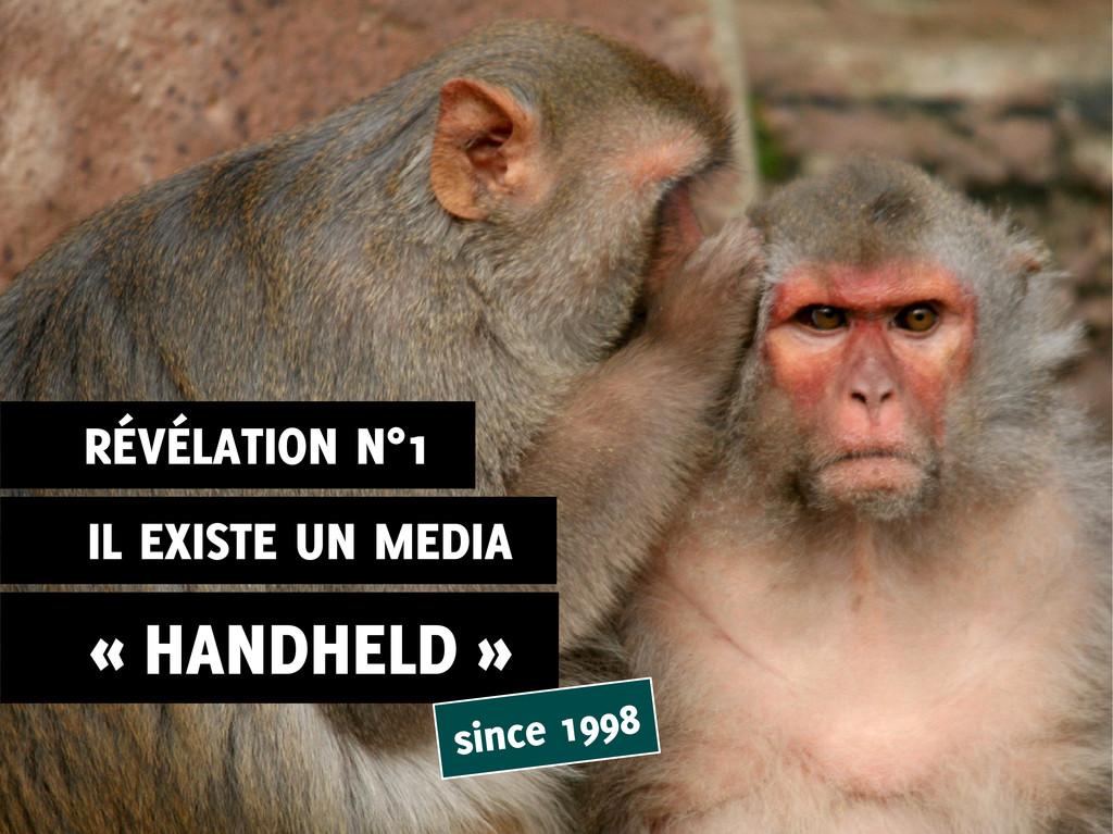 IL EXISTE UN MEDIA « HANDHELD » since 1998 RÉVÉ...