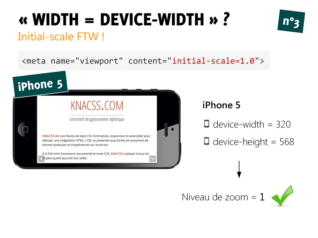 « WIDTH = DEVICE-WIDTH » ? Initial-scale FTW ! ...