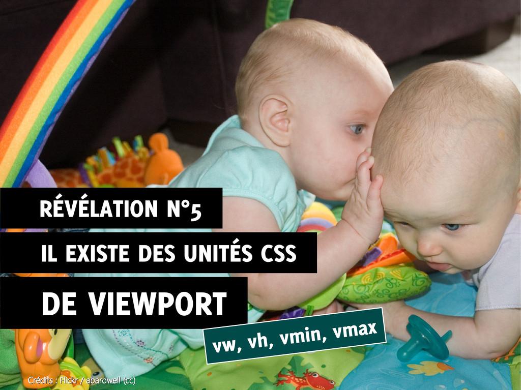IL EXISTE DES UNITÉS CSS DE VIEWPORT vw, vh, vm...