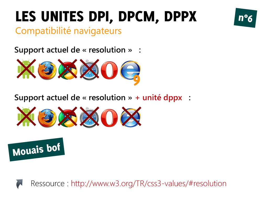 LES UNITES DPI, DPCM, DPPX Compatibilité naviga...