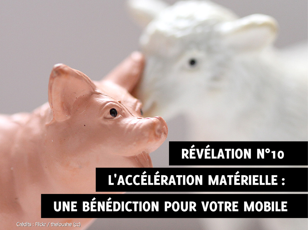 L'ACCÉLÉRATION MATÉRIELLE : UNE BÉNÉDICTION POU...