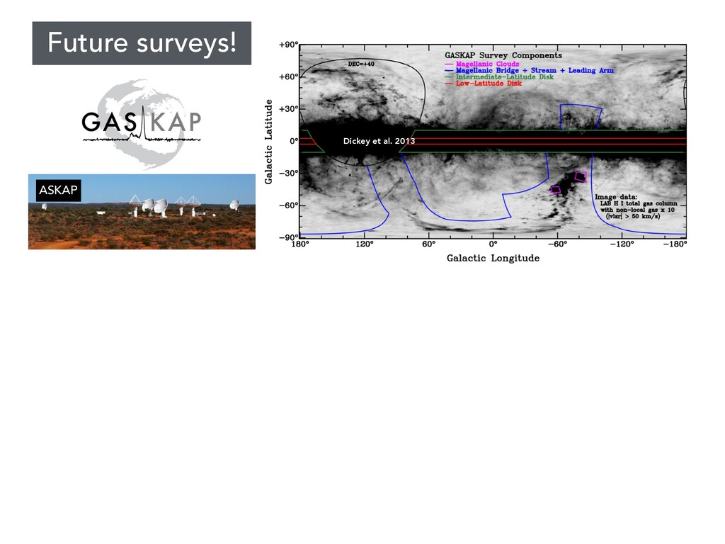 GASKAP Dickey et al. 2013 Future surveys! ASKAP