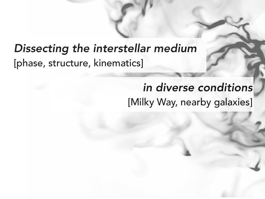 Dissecting the interstellar medium [phase, stru...