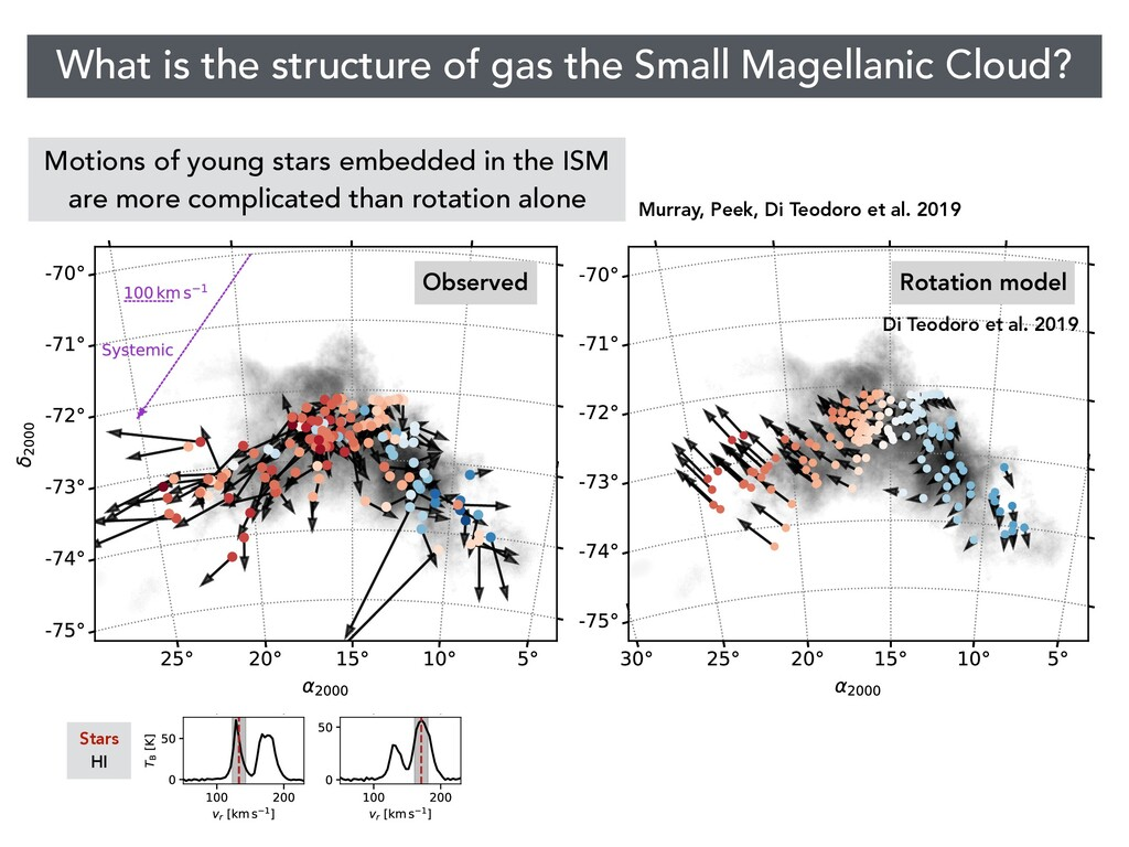 Observed Rotation model Stars HI What is the st...