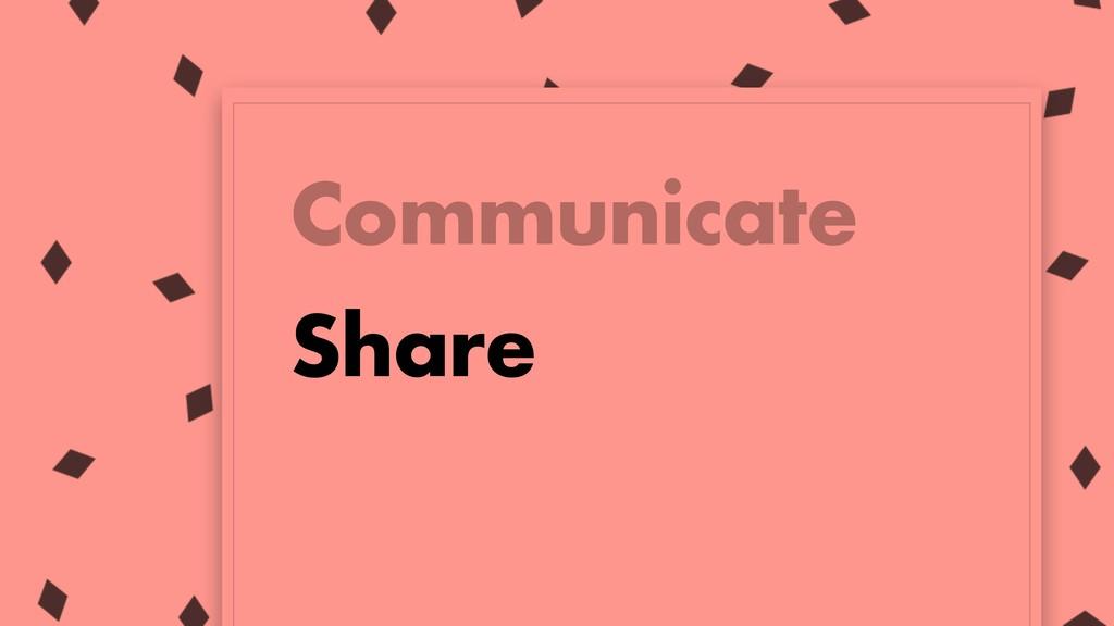 Communicate Share
