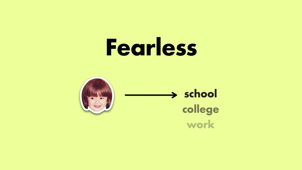 Fearless college work school