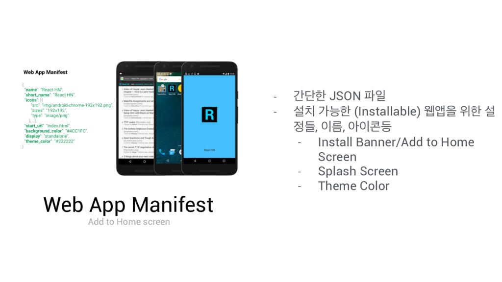 Web App Manifest Add to Home screen - рױೠ JSON ...