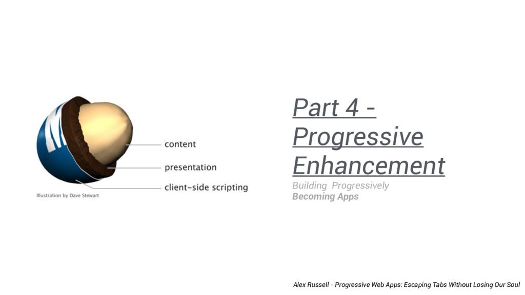 Part 4 - Progressive Enhancement Building Progr...