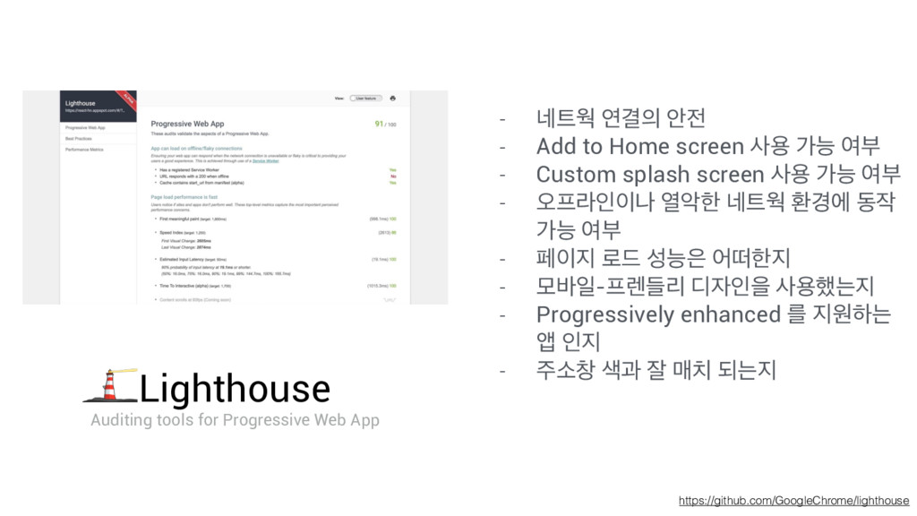 https://github.com/GoogleChrome/lighthouse - ֎...